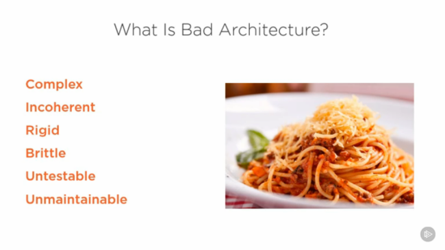 Microservices Architecture course example slide