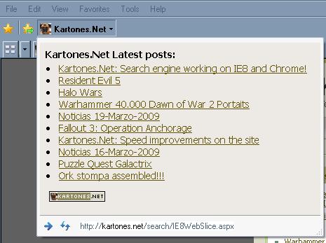 web slice screenshot