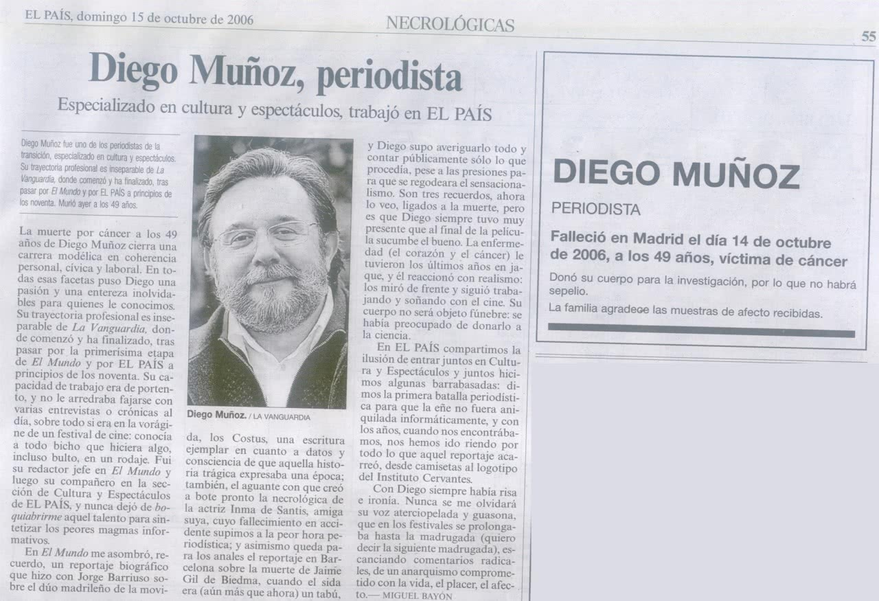 Obituary at El Pais