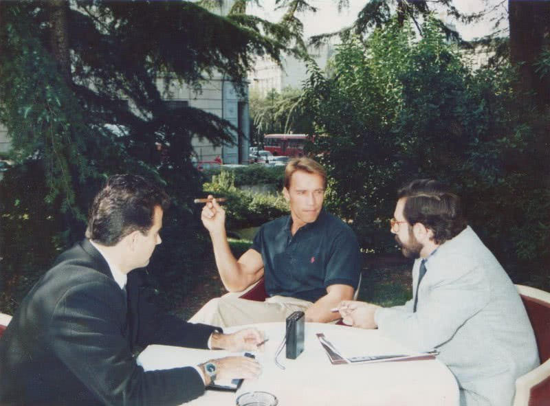 Interviewing Arnold Schwarzenegger