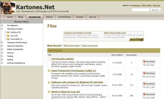 Kartones.Net screenshot