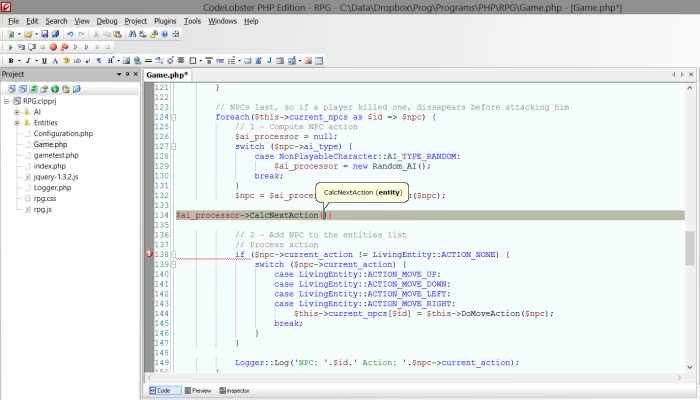 CodeLobster IDE screenshot