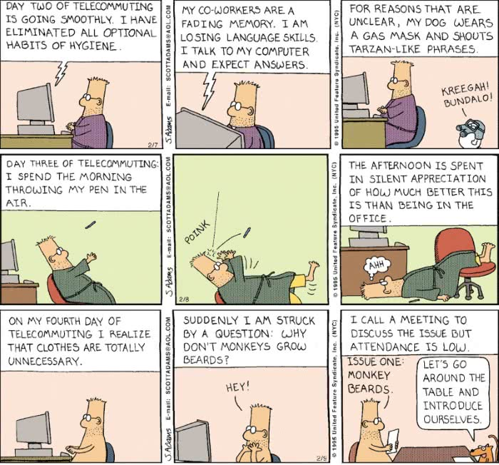 Dilbert on remote working