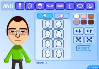 Wii's Mii example