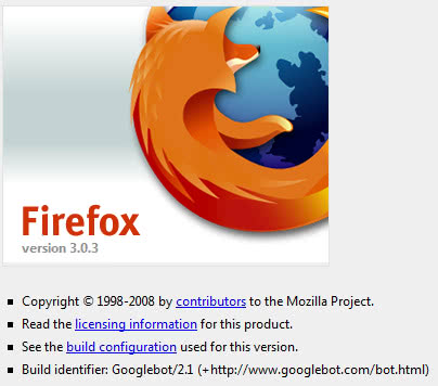 Firefox About page