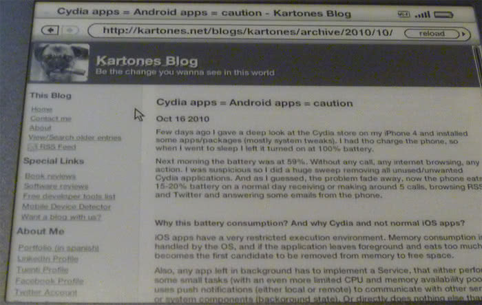 Kindle 3 webbrowser