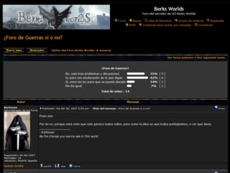 The new Berks Worlds forums with dark theme