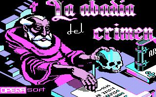 La Abadía del Crímen title screenshot
