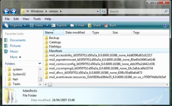Windows SxS folder