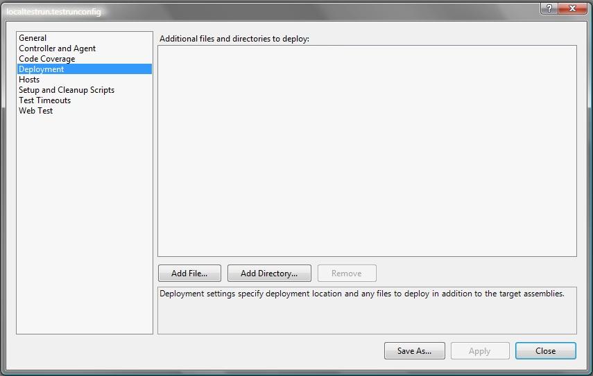 Output folder configuration