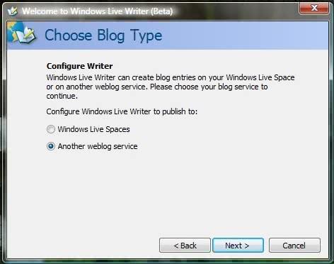 Windows Live Writer configuration
