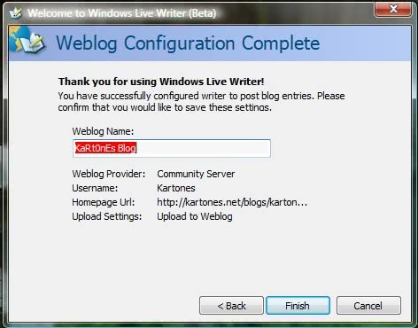 Windows Live Writer configuration