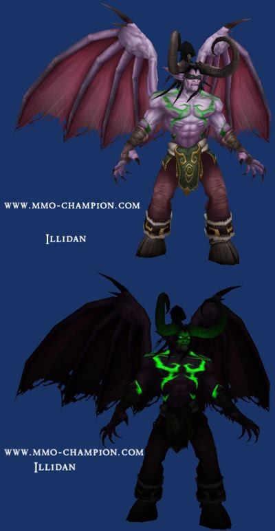 Illidan Stormrage ingame model