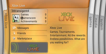 The XBox 360 Dashboard
