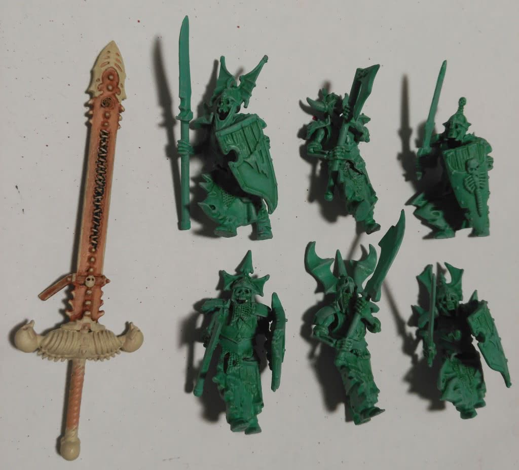 Sword and undead minions detail