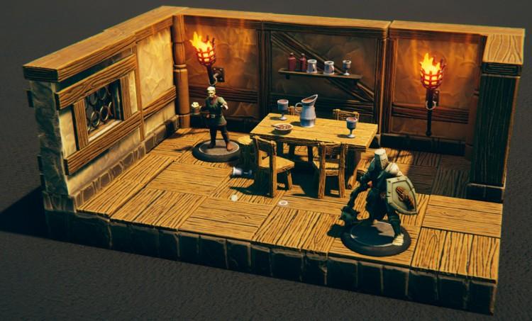 Talespire screenshot: A small tavern