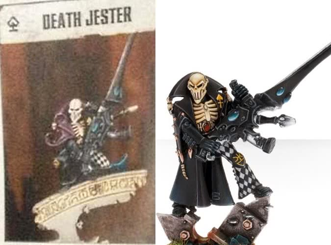 Death Jester Harlequin miniature comparison