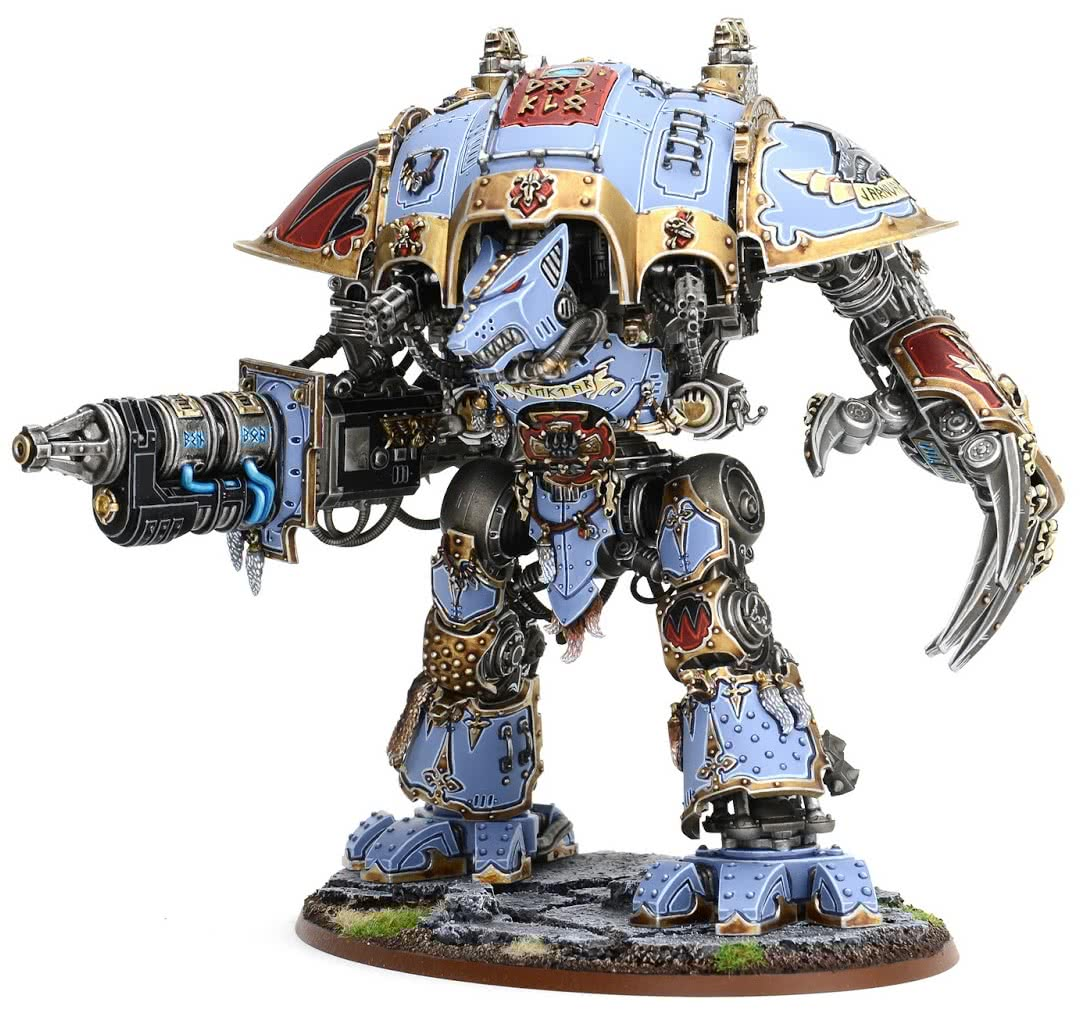 The Space Wolves custom Imperial Knight