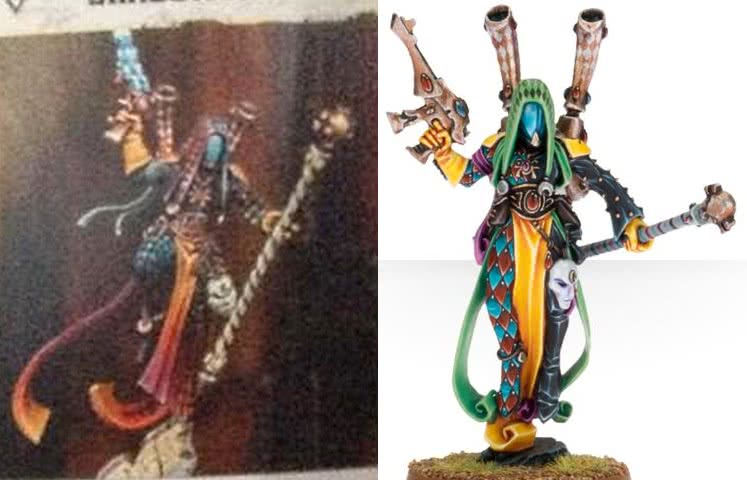 Shadowseer Harlequin miniature comparison