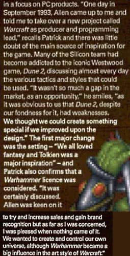 Making of Warcraft article excerpt