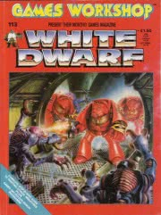 White Dwarf #113 cover
