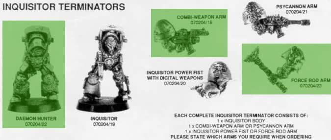 Citadel Catalog miniatures