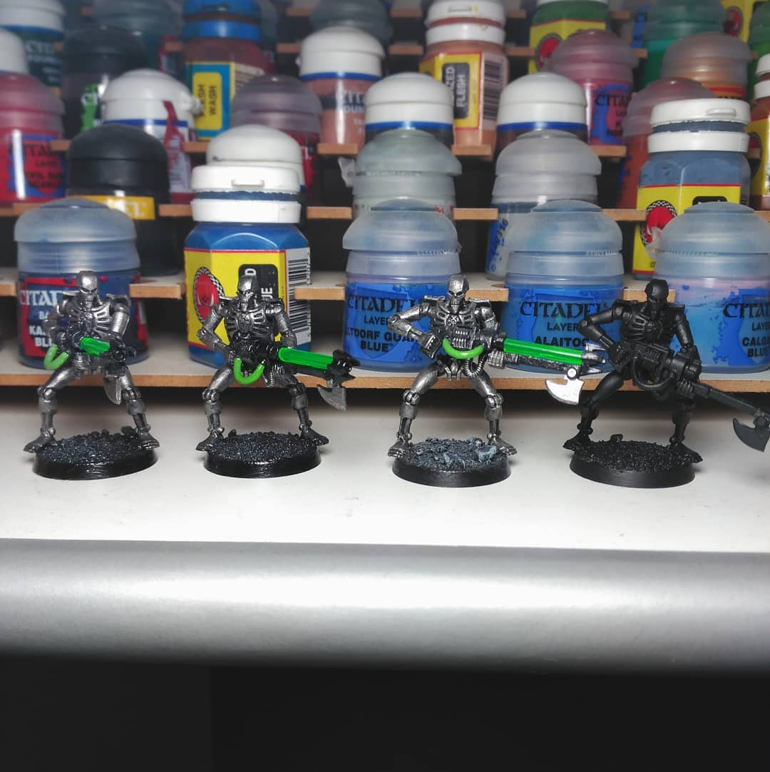 Painting progres... A few necrons